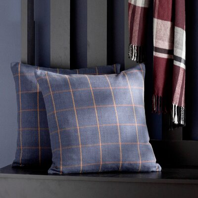 Newry Plaid Cotton Throw Pillow Size: 24 x 24