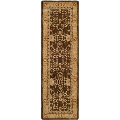 Ladd Brown/Gold Area Rug Rug Size: Runner 26 x 12