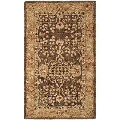 Dunstable Brown/Gold Area Rug Rug Size: 96 x 136