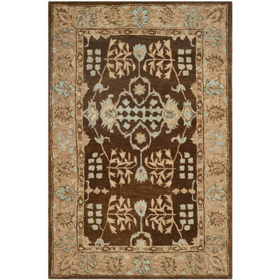 Ladd Light Brown/Beige Area Rug Rug Size: Rectangle 56 x 86