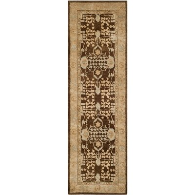 Ladd Light Brown/Beige Area Rug Rug Size: Runner 26 x 12