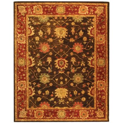 Ladd Olive/Burgundy Area Rug Rug Size: Rectangle 4 x 6