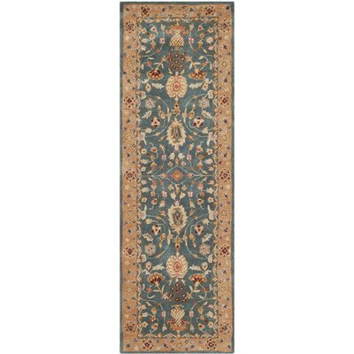 Dunstable Blue/Tan Area Rug Rug Size: Runner 26 x 12