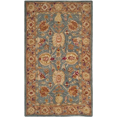 Dunstable Blue/Tan Area Rug Rug Size: 3 x 5