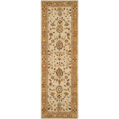 Dunstable Ivory/Taupe Area Rug Rug Size: Runner 26 x 12