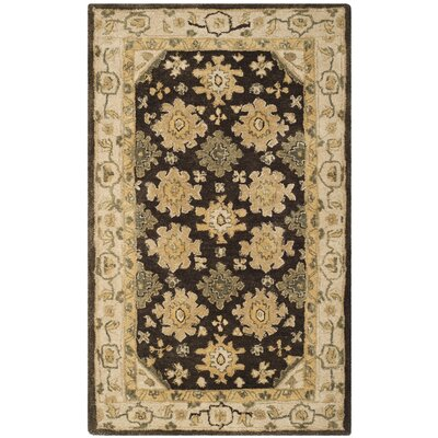 Ladd Brown/Ivory Area Rug Rug Size: 8 x 10