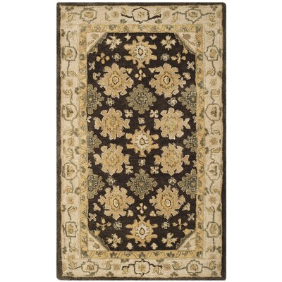 Ladd Brown/Ivory Area Rug Rug Size: 96 x 136