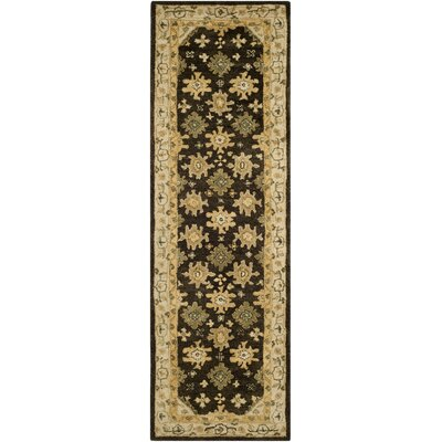 Dunstable Brown/Ivory Area Rug Rug Size: Runner 26 x 8