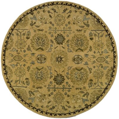 Ladd Tufted Wool Rug Rug Size: Round 6