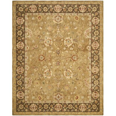 Dunstable Gold / Chocolate Rug Rug Size: 96 x 136