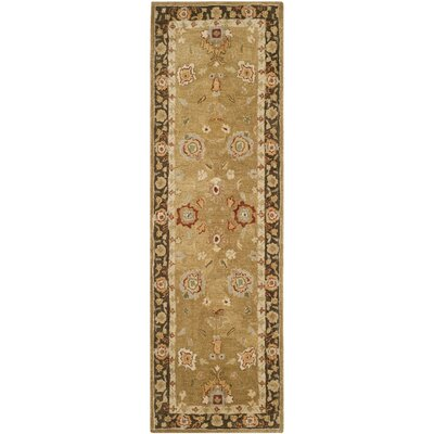 Dunstable Gold / Chocolate Rug Rug Size: Runner 26 x 8