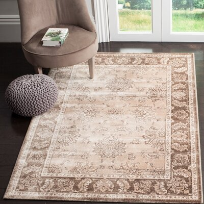 Lafond Beige/Light Brown Area Rug Rug Size: Rectangle 9 x 12