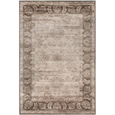Lafond Beige/Light Brown Area Rug Rug Size: Rectangle 51 x 76