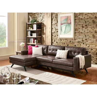 Hazleton Sectional Orientation: Left Hand Facing, Upholstery: Chestnut