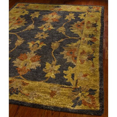 Lafountain Charcoal/Gold Area Rug Rug Size: Rectangle 4 x 6