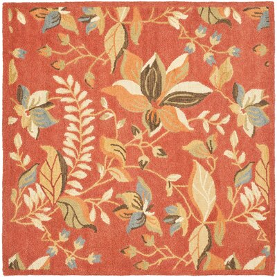 Afton Rust/Multi Area Rug Rug Size: Square 6