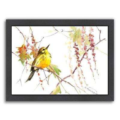 Warbler In Spring Framed Painting Print