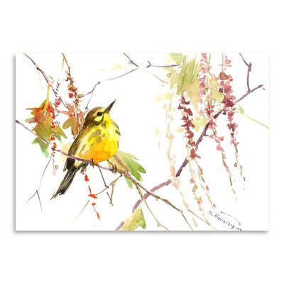 Warbler in Spring Painting Print