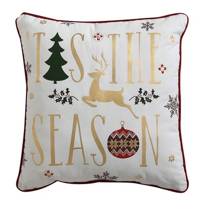 Gold Foil Decorative Holiday Throw Pillow