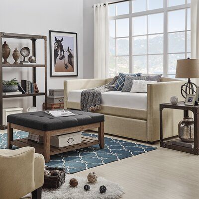 Claflin Daybed and Trundle Color: Beige
