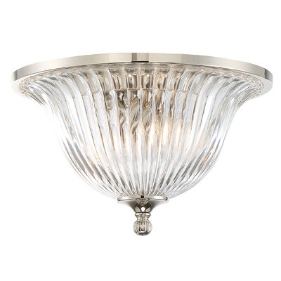 Carnot 2-Light Flush Mount Finish: Polished Nickel