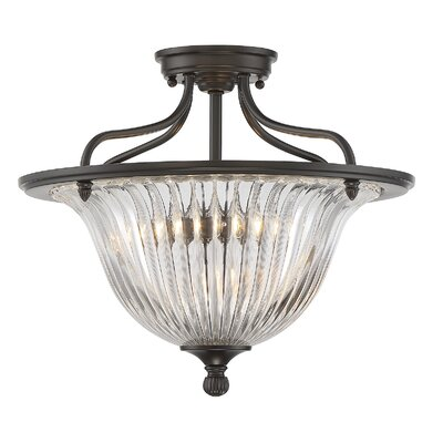 Carnot 3-Light Semi Flush Mount Finish: Classic Bronze