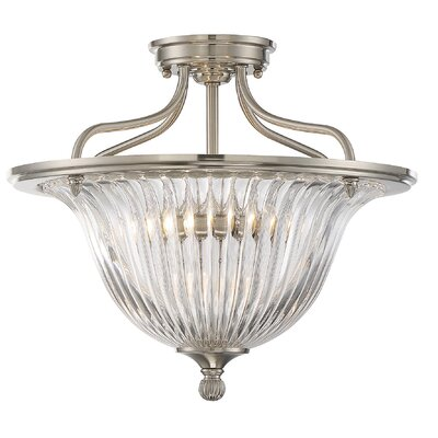 Carnot 3-Light Semi Flush Mount Finish: Satin Nickel