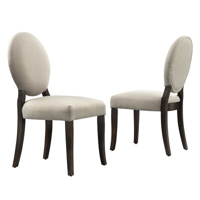 Drayton Side Chair Upholstery: Grey