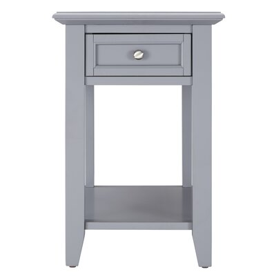 Ellicott End Table With Storage� Color: Frost Grey