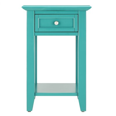 Ellicott End Table With Storage� Color: Marine Green