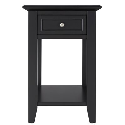 Ellicott End Table With Storage� Color: Vulcan Black