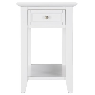 Ellicott End Table With Storage� Color: White