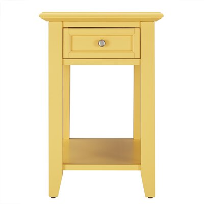 Ellicott End Table With Storage� Color: Yellow