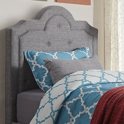 Bourbon Twin Upholstered Panel Headboard Upholstery: Gray
