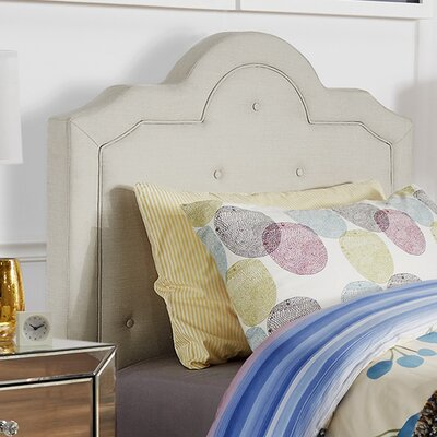 Bourbon Twin Upholstered Panel Headboard Upholstery: White
