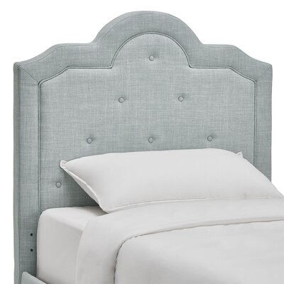 Bourbon Twin Upholstered Panel Headboard Upholstery: Blue Haze