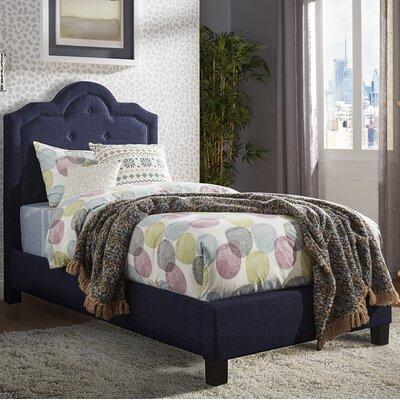 Bourbon Twin Upholstered Platform Bed Upholstery: Twilight Blue