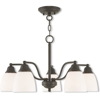 Bill 5-Light Shaded Chandelier Finish: Bronze