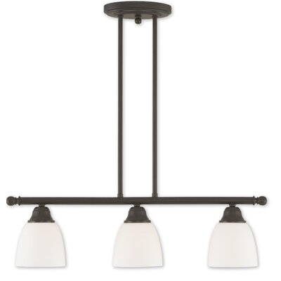 Bill 3-Light Kitchen Island Pendant Finish: Bronze
