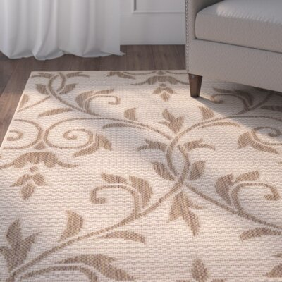 Kulshan Beige/Brown Outdoor Area Rug Rug Size: 5 x 8
