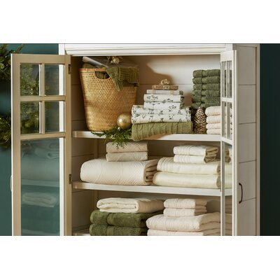 Spring Grove 900 GSM Premium Long-Staple Combed Cotton Towel Set (Set of 2) Color: Forest Green