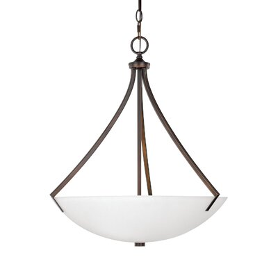 Brickyard 3-Light Bowl Pendant