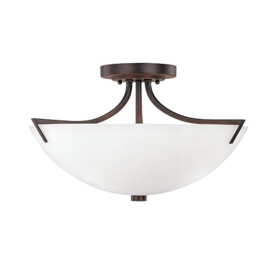 Brickyard 3-Light Semi Flush Mount