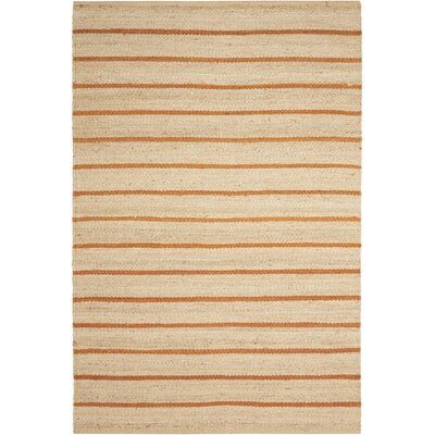 Laflin Hand-Woven Ochre/Wheat Area Rug Rug Size: Rectangle 4 x 6