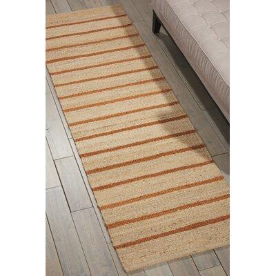 Laflin Hand-Woven Ochre/Wheat Area Rug Rug Size: Runner 23 x 76