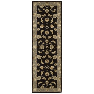 Donohoe Black/Green Area Rug Rug Size: Runner 23 x 76