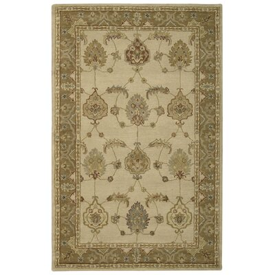 Donohoe Hand-Woven Ivory/Gold Area Rug Rug Size: Rectangle 5 x 8