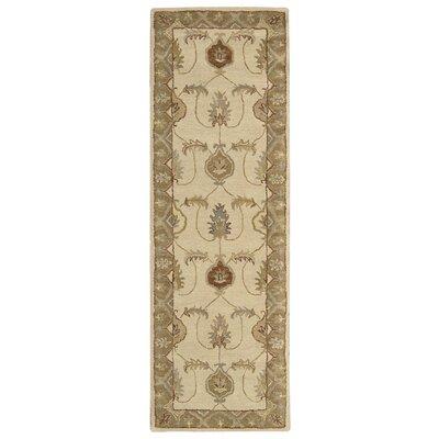 Francesville Hand-Woven Ivory/Gold Area Rug Rug Size: Runner 23 x 76
