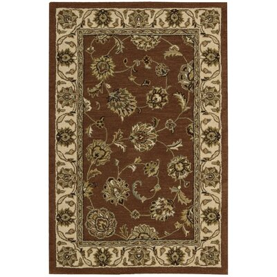 Donohoe Hand-Woven Brown/Ivory Area Rug Rug Size: 36 x 56