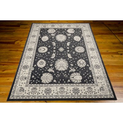 Lamarche Woven Charcoal Area Rug Rug Size: Rectangle 93 x 129